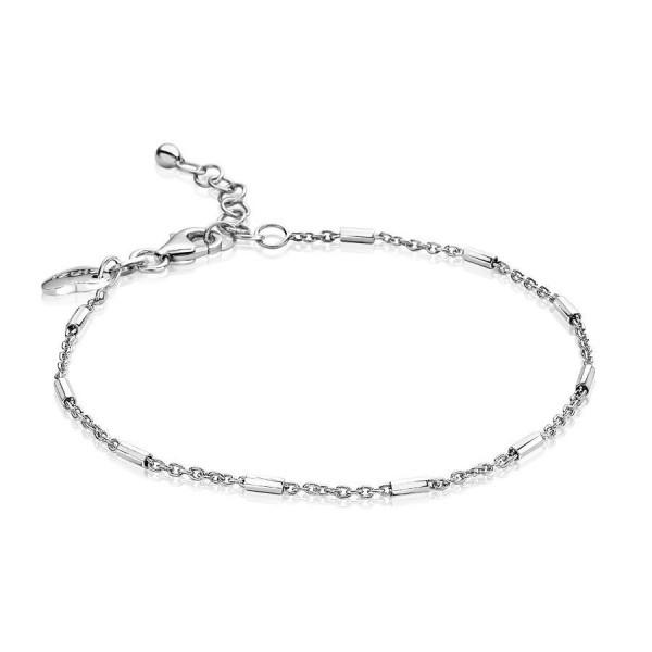 Zinzi Armband Dames Jasseronschakel met Staafjes ZIA1648 Zilver