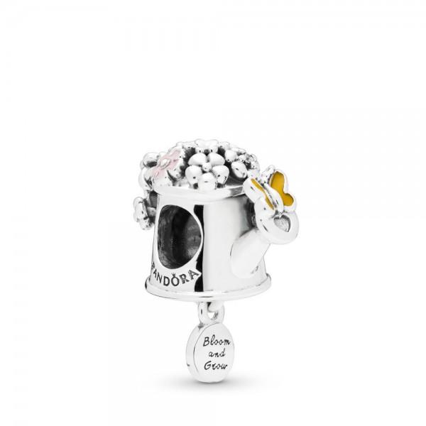 Pandora Blooming Watering Can Bedel Dames 797873ENMX Zilver Zirkonia Emaille