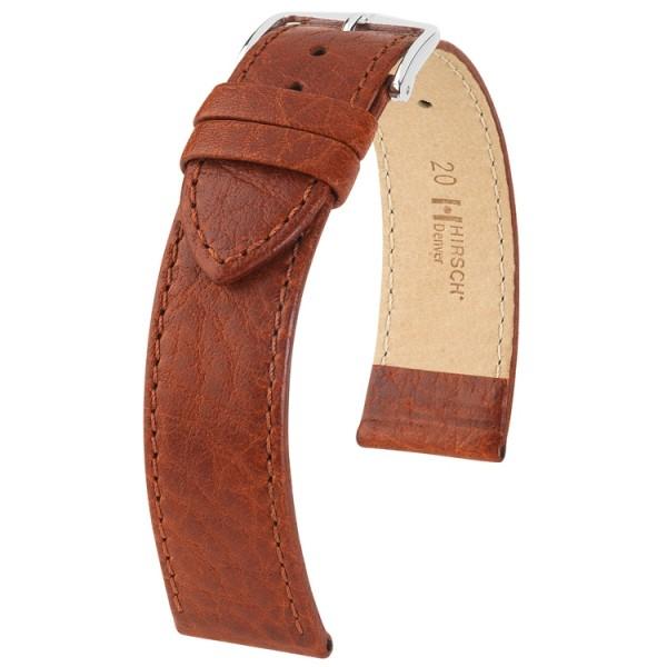 Hirsch Denver Horlogeband 18mm Unisex Goudbruin