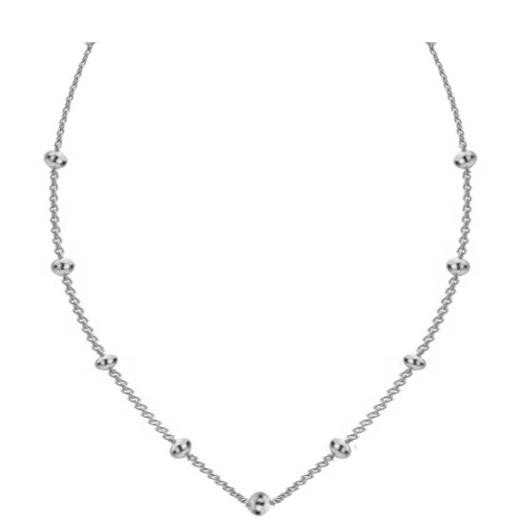Sparkling Jewels Ketting SNBS090 Silver Ball 90 cm
