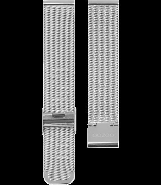 OOZOO horlogeband Milanees-Mesh edelstaal zilverkleurig 20mm