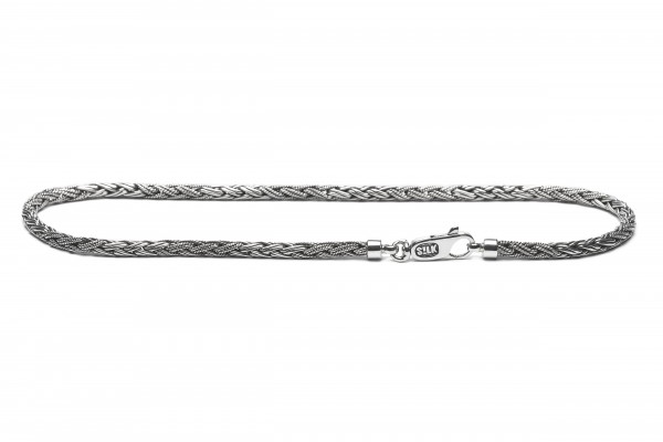 SILK Zilveren Collier - 378 65CM