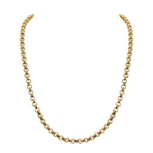 Sparkling Jewels Ketting SNGM060 Gold Plated Silver 60 cm