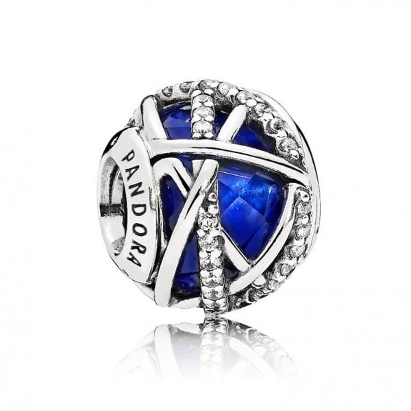 Pandora Moments Bedel Royal Blue Galaxy 796361NCB