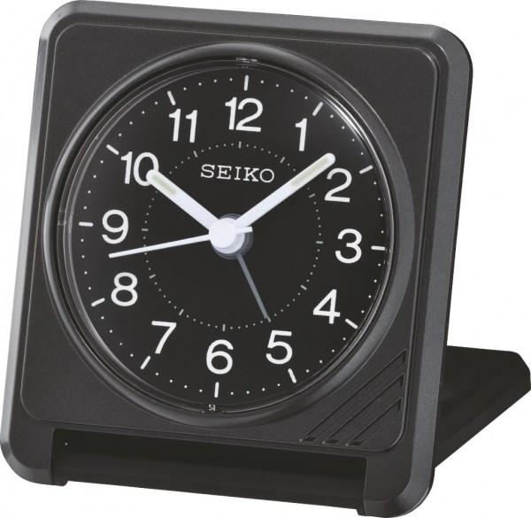 Seiko reiswekker QHT015K elektronisch piep alarm - zwart kunststof