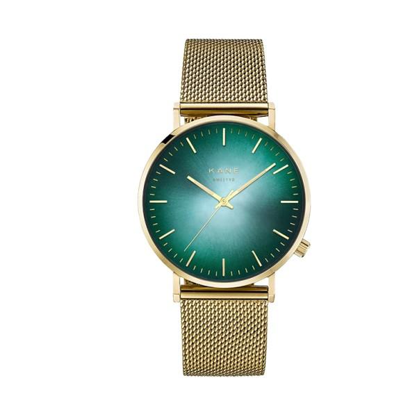 Kane Gold Jade Unisex Horloge Quartz Analoog GJ900 Goudkleurig Jade Groen