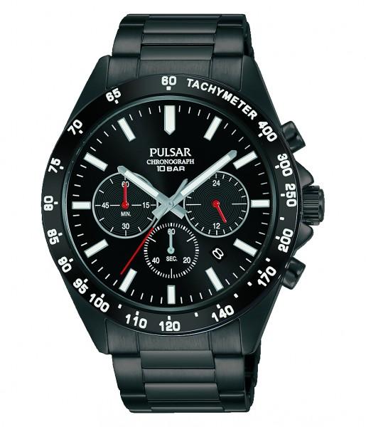 Pulsar - Horloge - PT3A79X1 Black Chronograaf
