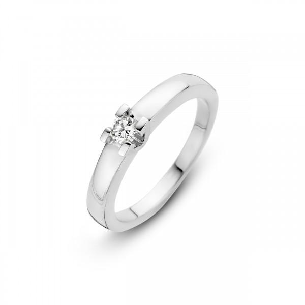 Briljant - Volonta Witgouden Damesring 0,10crt Diamant
