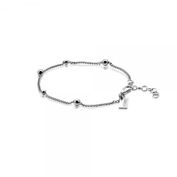 Zinzi Armband Dames Gourmetschakel Bolletjes ZIA987 Zilver