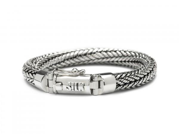 Silk armband 361.19 zilver 19cm