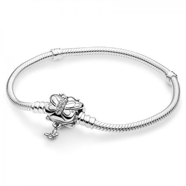 Pandora Moments Decorative Butterfly Armband Dames 597929CZ-21 Zilver Zirkonia