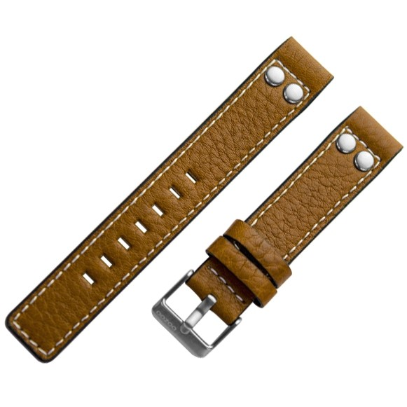 Oozoo horlogeband model 8 - 28mm Cognac Bruin