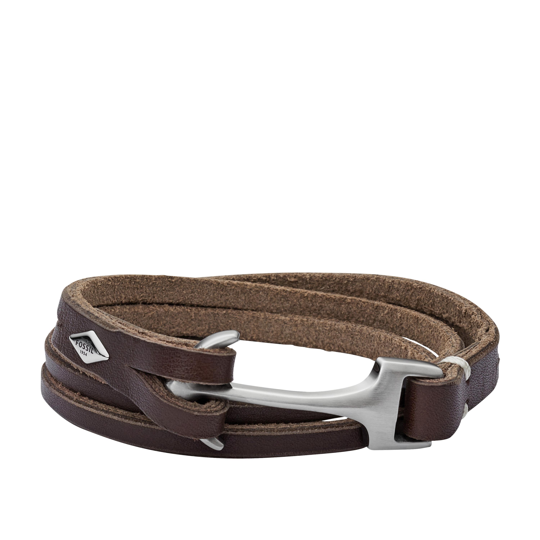 1252a500a0f Fossil Mens Vintage Casual Heren Armband JF02205040 Bruin Leer RVS | Heren  | Sieraden | Juwelier Kremer