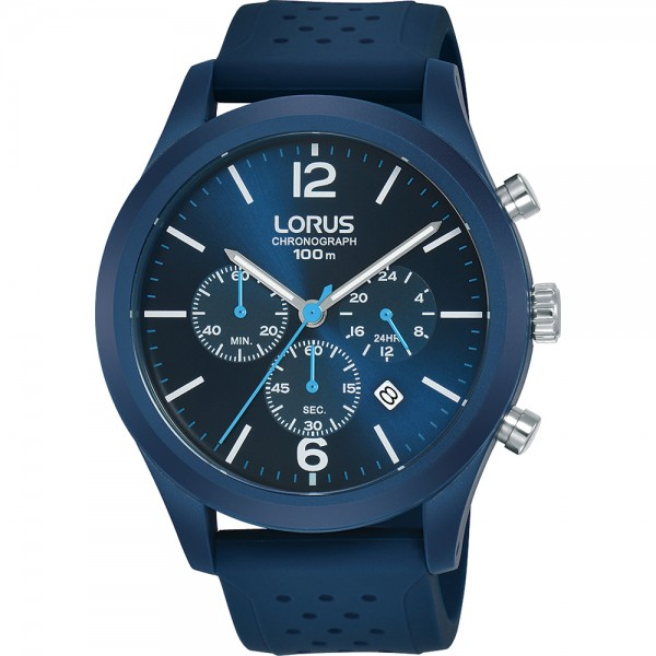 Lorus herenhorloge RT355HX9 Chronograaf blauw