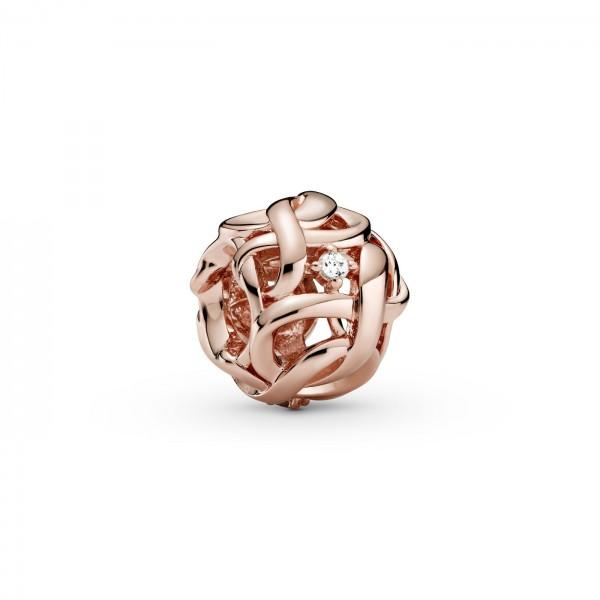 Pandora bedel 788824C01 - Opengewerkte Geweven Oneindigheid rosé