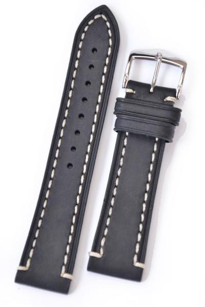 Hirsch Liberty Artisan Horlogeband 10900250-2-24 Zwart 24mm