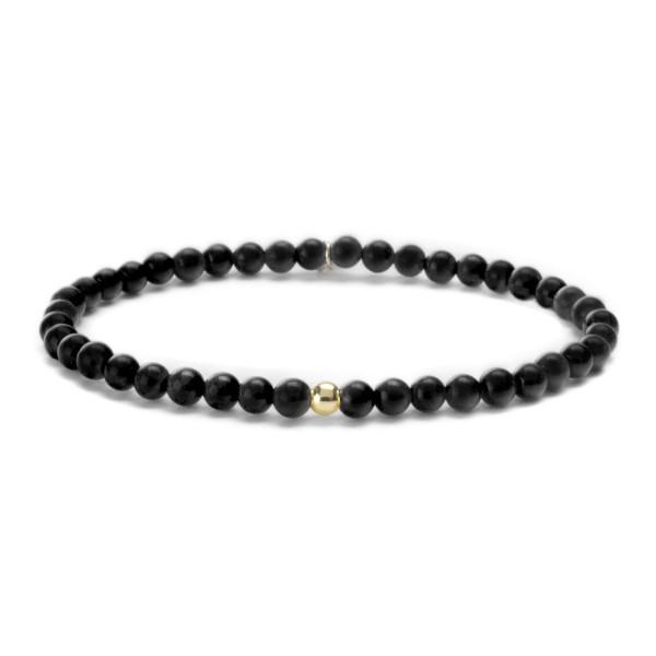 Sparkling Jewels Armband SBG-GEM07-ADD-4mm Zwart Onyx Zilver