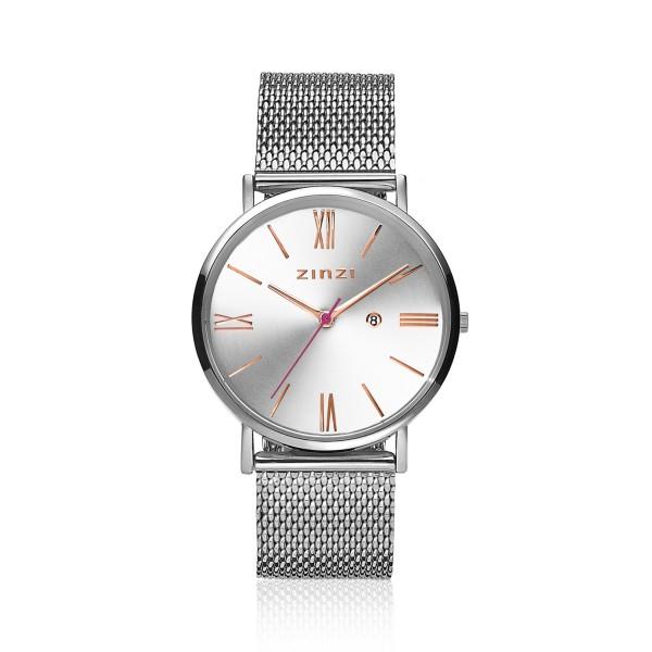 Zinzi Zilver Horloge 34 mm ZIW512M