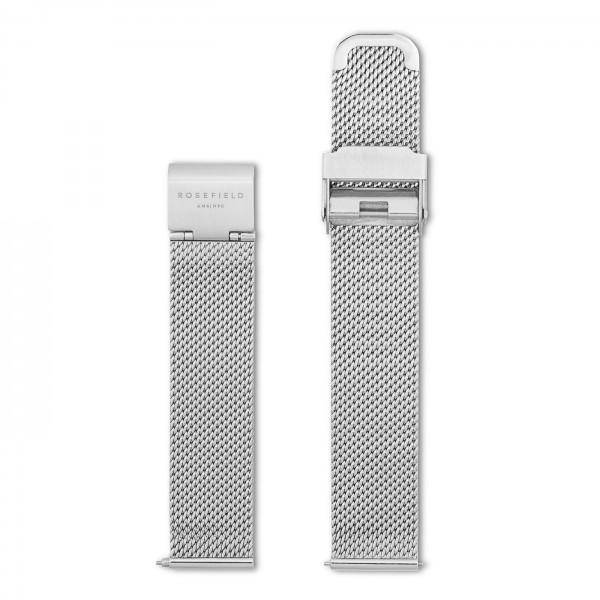 Rosefield The Mercer Mesh Horlogebandje Dames MSS-S122 Zilverkleurig