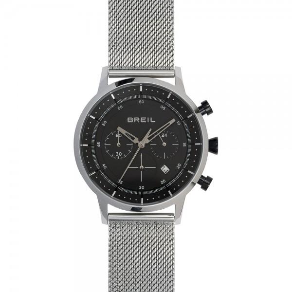 Breil Six 3 Nine Herenhorloge Chronograaf Quartz Analoog TW1805 Zilverkleurig Zwart