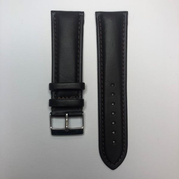 Remerko Horlogeband - Donker Bruin - 24mm
