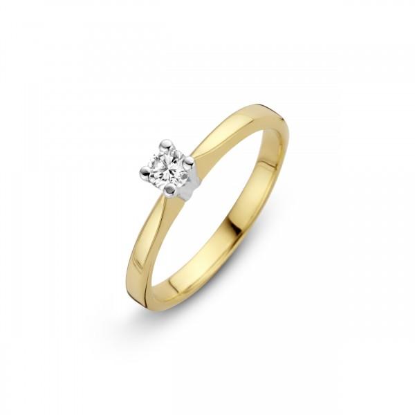 Briljant - Eternal Gouden Damesring 0,12crt Diamant