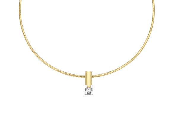 Briljant - Volonta Gouden Hanger 0,10crt Diamant