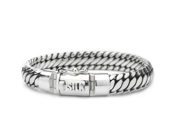 Silk armband 371.21 Zilver 21cm