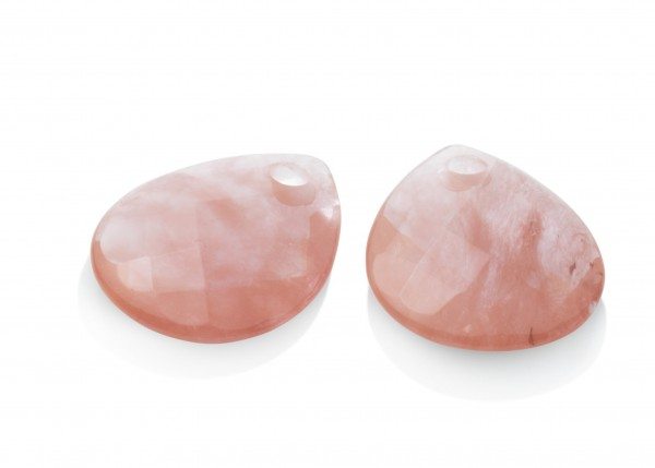 Sparkling Jewels Oorsieraad Gemstone EAGEM25 Cherry Quartz Facet