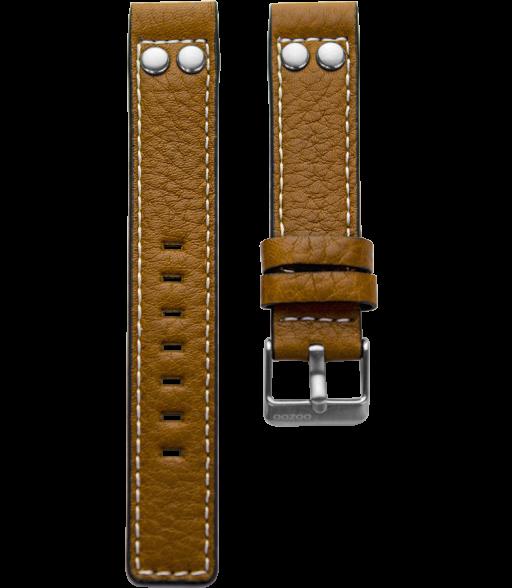 OOZOO horlogeband Cognac Bruin 24mm breed