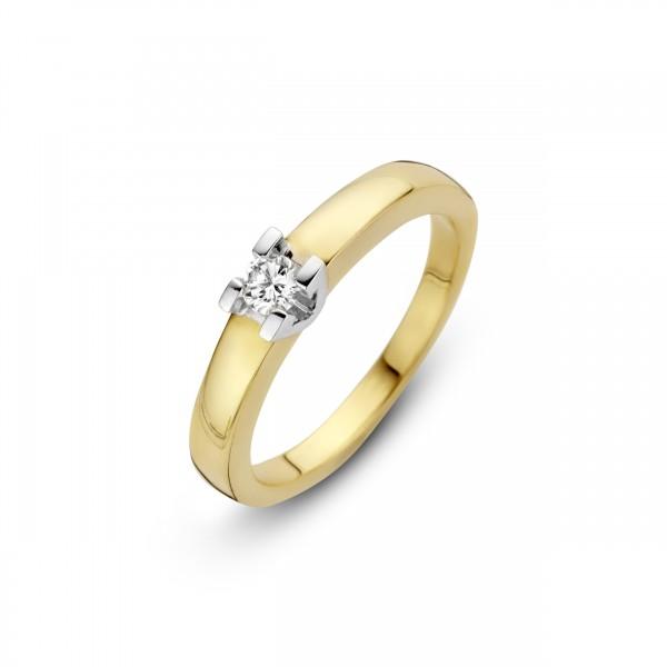 Briljant - Volonta Gouden Damesring 0,15crt Diamant