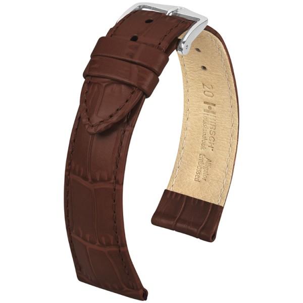 Hirsch horlogeband - LOUISIANA LOOK - 18mm BRUIN - M