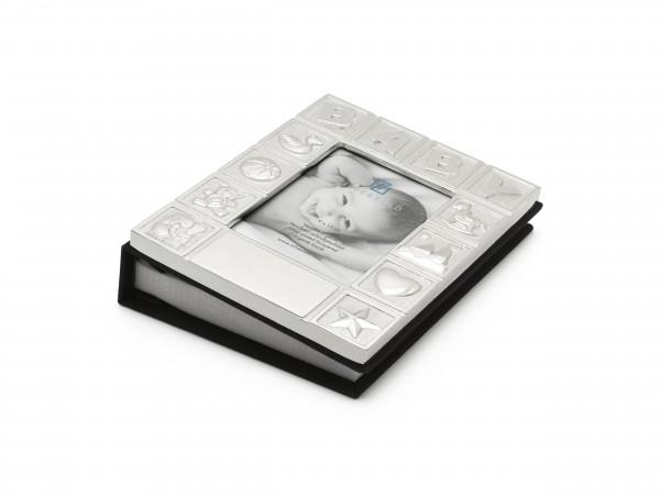 Zilverstad Fotoalbum Baby verzilverd 9 x 13 cm