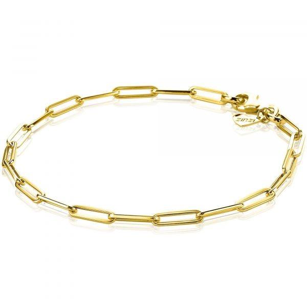 ZINZI Gold 14 karaat gouden armband langwerpige schakels ZGA274 10mm