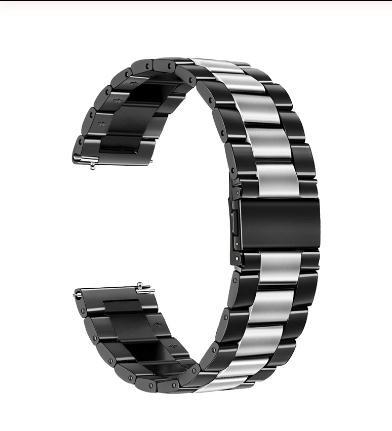 Horlogeband - vouwsluiting met drukknoppen - edelstaal 22mm