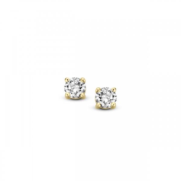 Briljant - Classico Gouden Oorknoppen 2x0,05crt Diamant