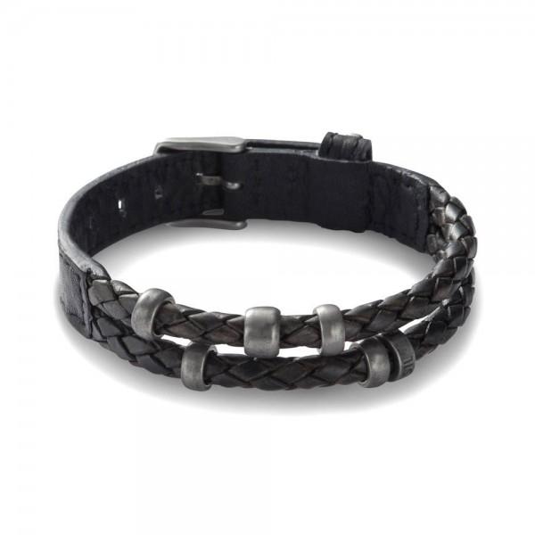 Fossil Mens Vintage Casual Heren Armband JF85460040 Zwart RVS