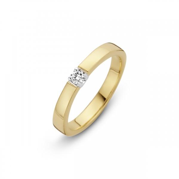 Briljant - Memoire Gouden Damesring 0,05crt Diamant