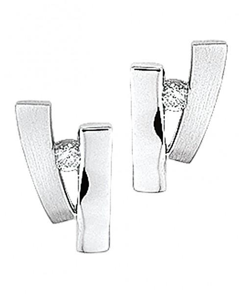Zilveren met Zirkonia steen Oorbellen - 1304933