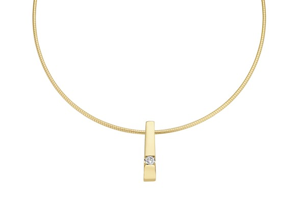Briljant - Stretto Gouden Dameshanger 0,05crt Diamant