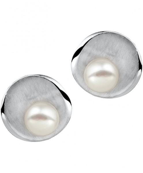 Zilveren Zoetwater Parel Oorbellen - 1314034