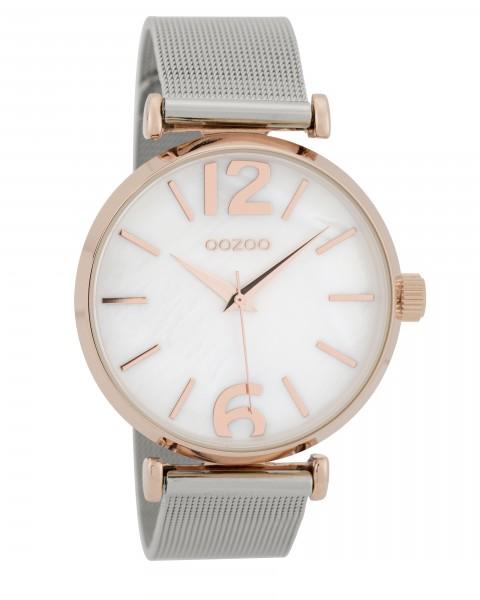 OOZOO Timepieces C9566 Zilverkleurig - Wit