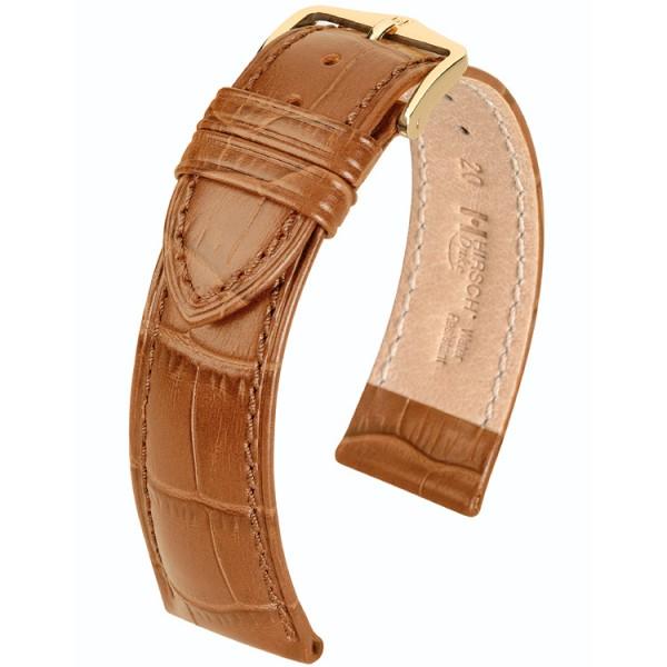 Hirsch horlogeband - Duke Honingbruin 20mm