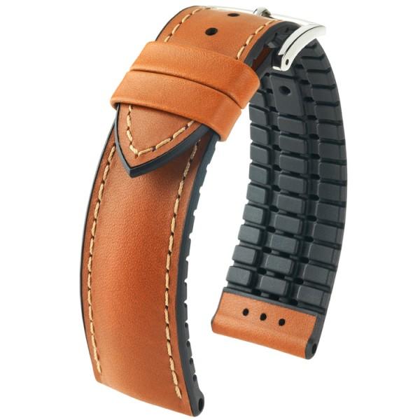 Hirsch horlogeband James L 22mm Bruin