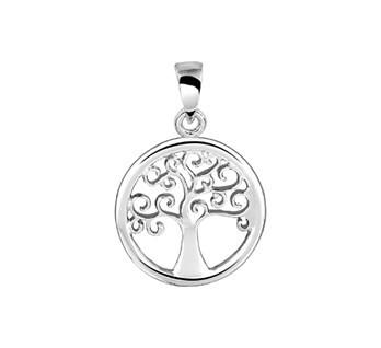 Zilveren Hanger Levensboom 15,5mm doorsnee