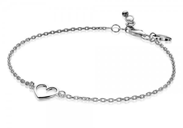Zinzi Armband Dames Jasseronschakel Open Hart ZIA1420 Zilver