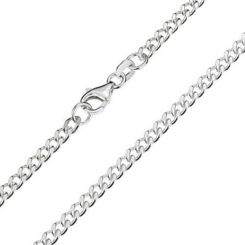 Gourmetcollier 60cm ZILVER / 3,2mm breed