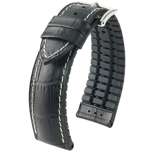 Hirsch horlogeband George L 20mm Zwart
