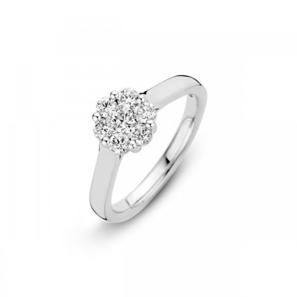Briljant - Premium Collectie Witgouden Damesring 0,24crt Diamant