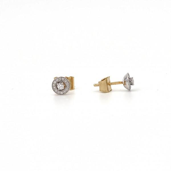 Briljant - Gouden Oorknoppen 0,14crt H/si Diamant